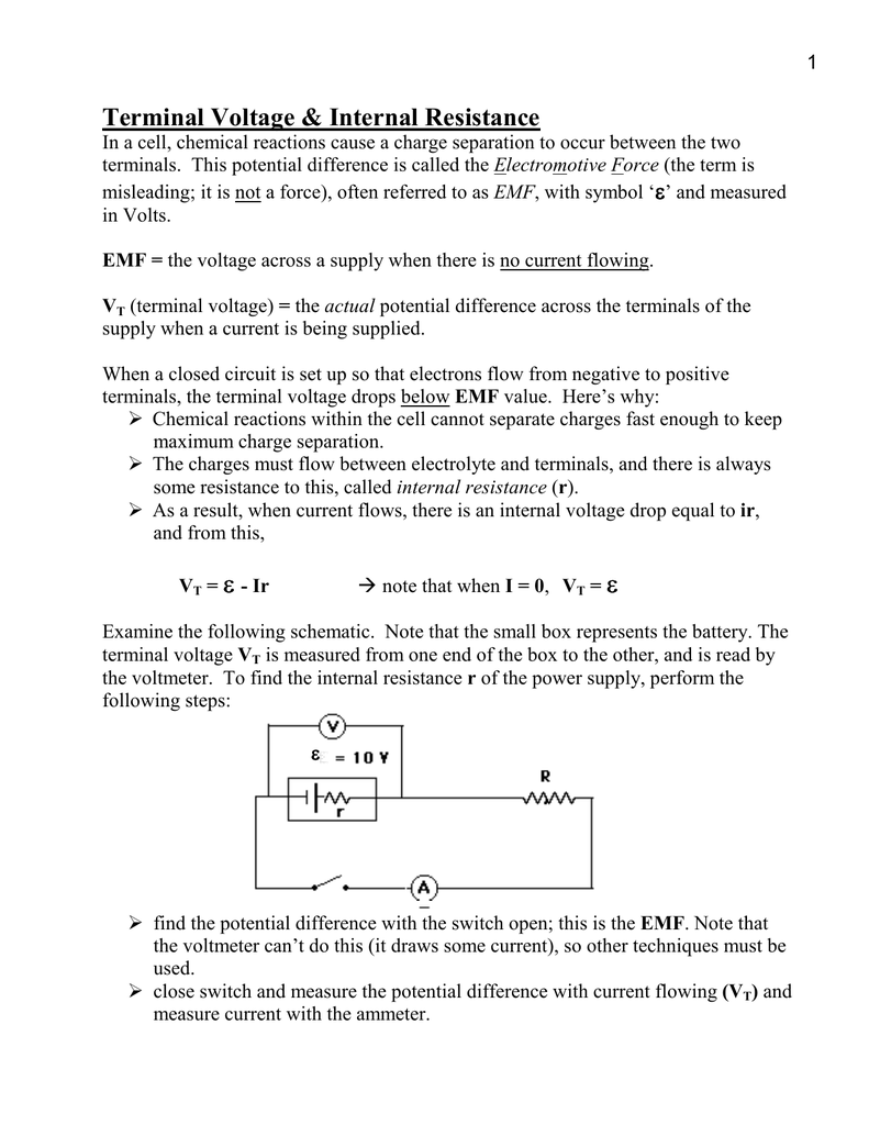 Current resistance and electromotive force pdf creator