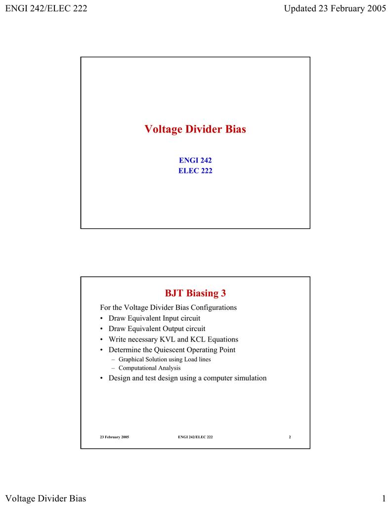 Voltage Divider Bias Circuit 018036038 1 92e18f4453138d81592e6f7381fd4735