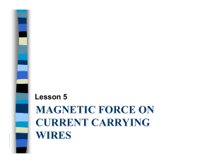 MAGNETIC FORCE ON CURRENT CARRYING WIRES
