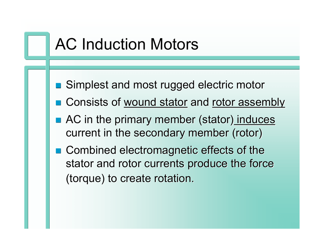 Split Phase Ac Motor Permanent Capacitor Run Induction