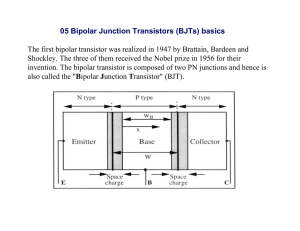05 Bipolar Junction Transistors (BJTs) basics The first bipolar