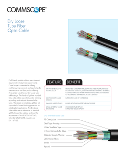 Dry Loose Tube Fiber Optic Cable