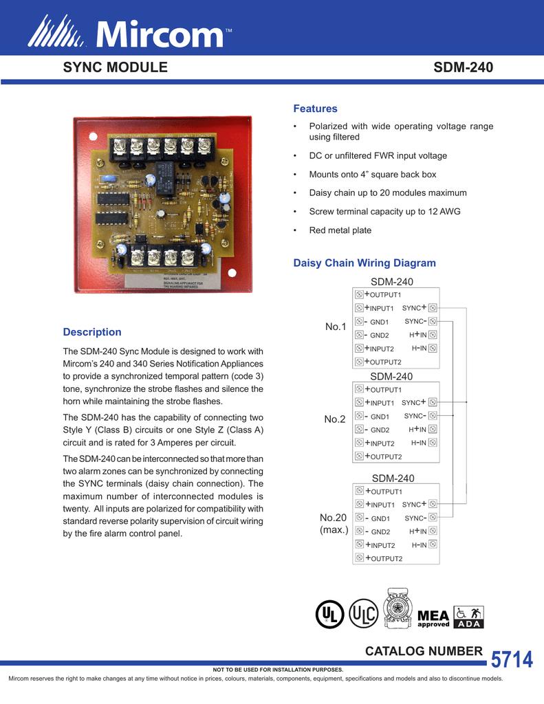 Sync Module Sdm 240 Daisy Chain Wiring Diagram