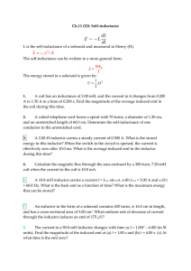 Ch.11 (32): Self-inductance L is the self