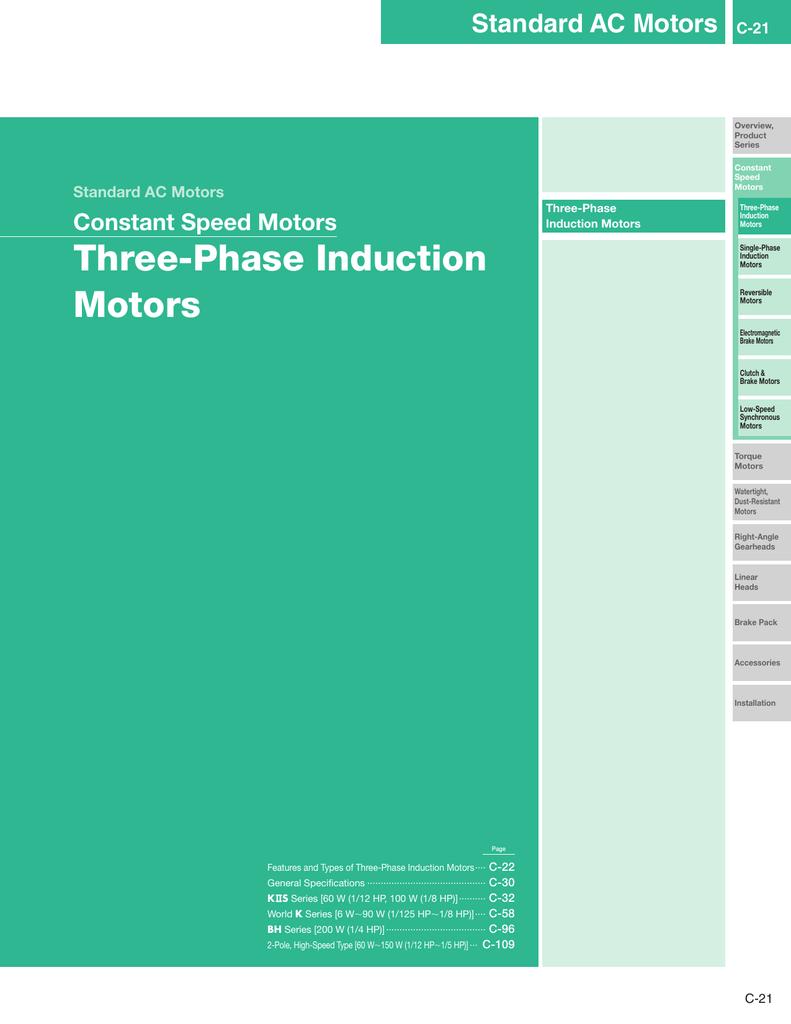Three-Phase Induction Motors