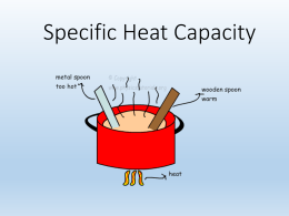 1.3 Specific Heat Capacity