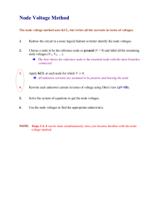 Node Voltage Method Summary