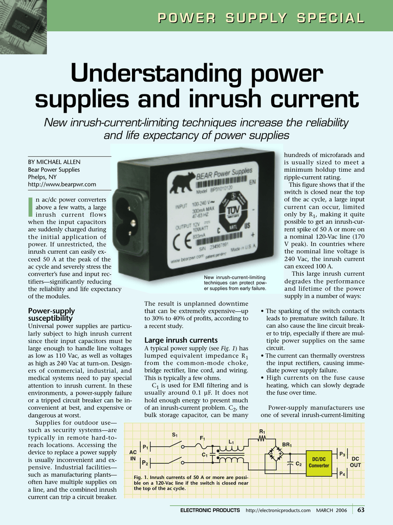 Understanding Power Supplies And Inrush Current Limiting Supply