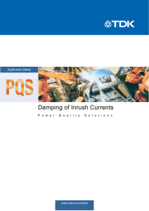 Application Note - Damping of inrush currents