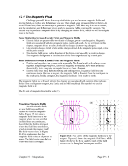 19-1 The Magnetic Field