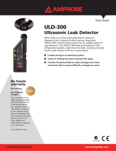 ULD-300 Ultrasonic Leak Detector Data Sheet