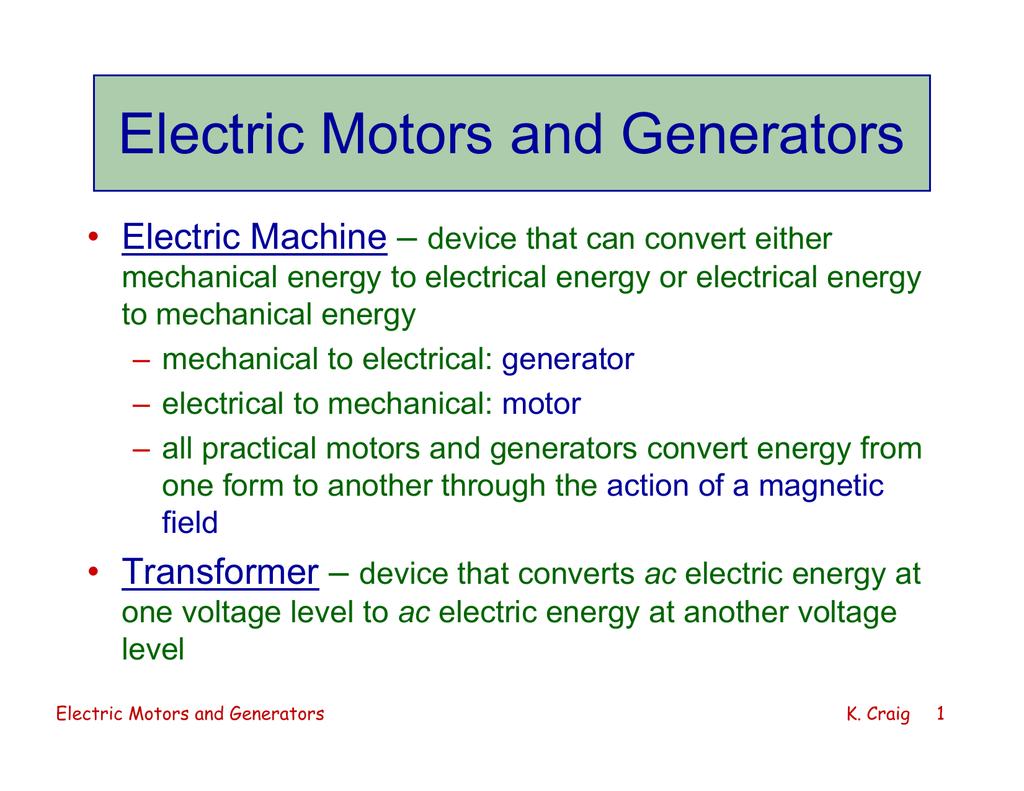 Electric Motors And Generators Electrical 018038438 1 0241ce6265c90ebdf4085c22cf7de55f