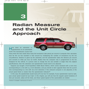 Radian Measure and the Unit Circle Approach