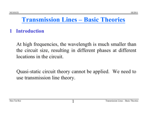 Transmission Lines – Basic Theories