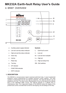 MK232A Earth-fault Relay User`s Guide
