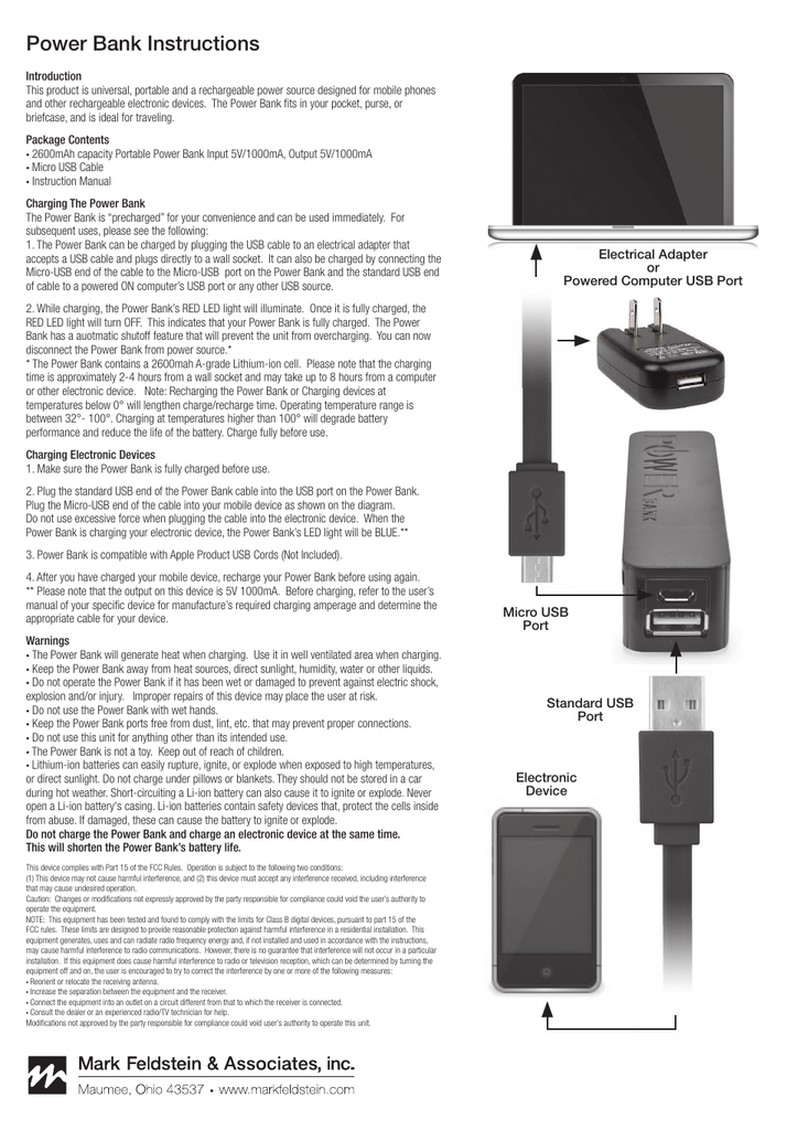 Power Bank Instructions