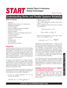 Understanding Series and Parallel Systems Reliability