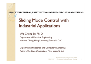 Sliding Mode Control with Industrial Applications