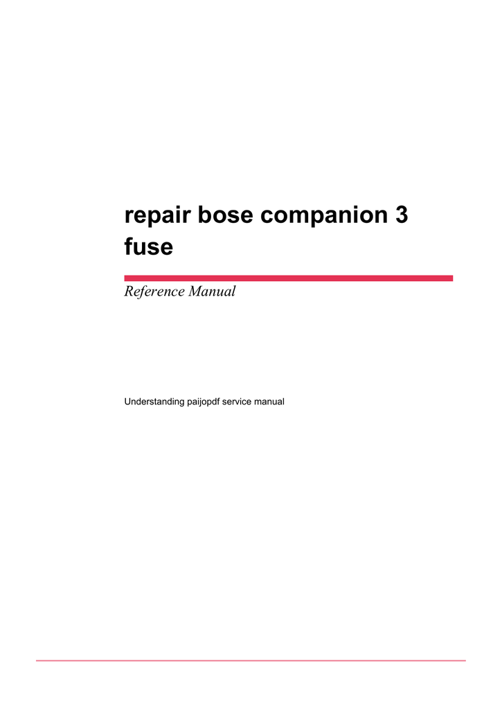 bose companion 2 manual