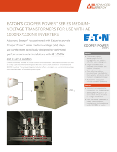 Eaton`s Cooper Power™ Series Medium