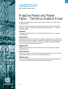 Reactive Power and Power Factor – Terms You Need