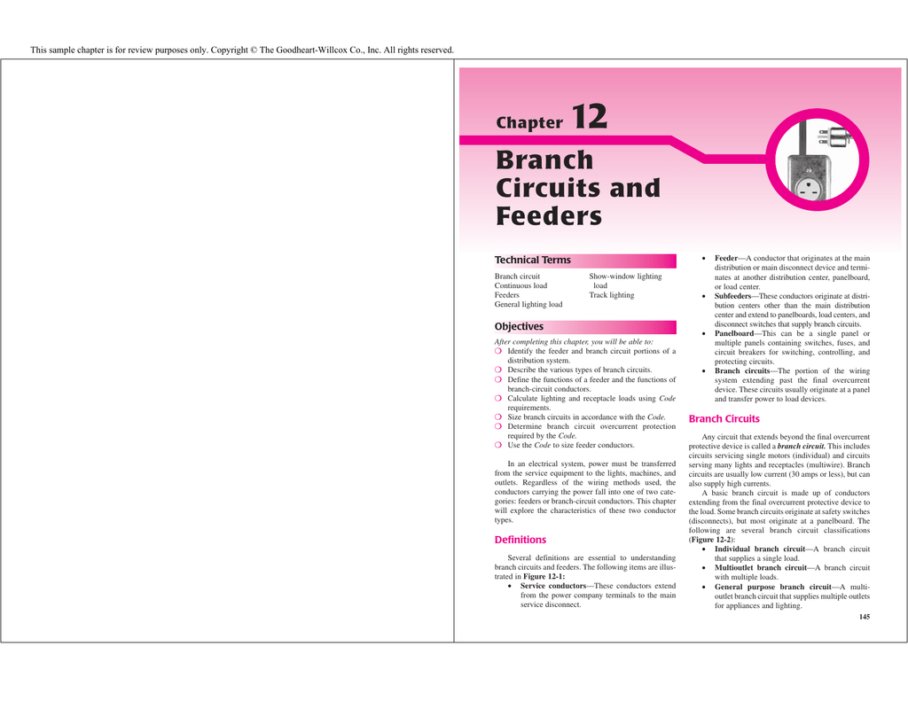 Branch Circuits and Feeders - Goodheart