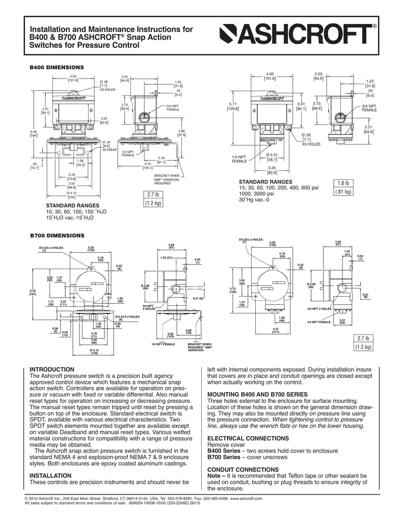 Barksdale Pressure Switch Wiring Diagram : Ashcroft pressure switch wiring diagram somurich