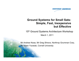 Ground Systems for Small Satellites
