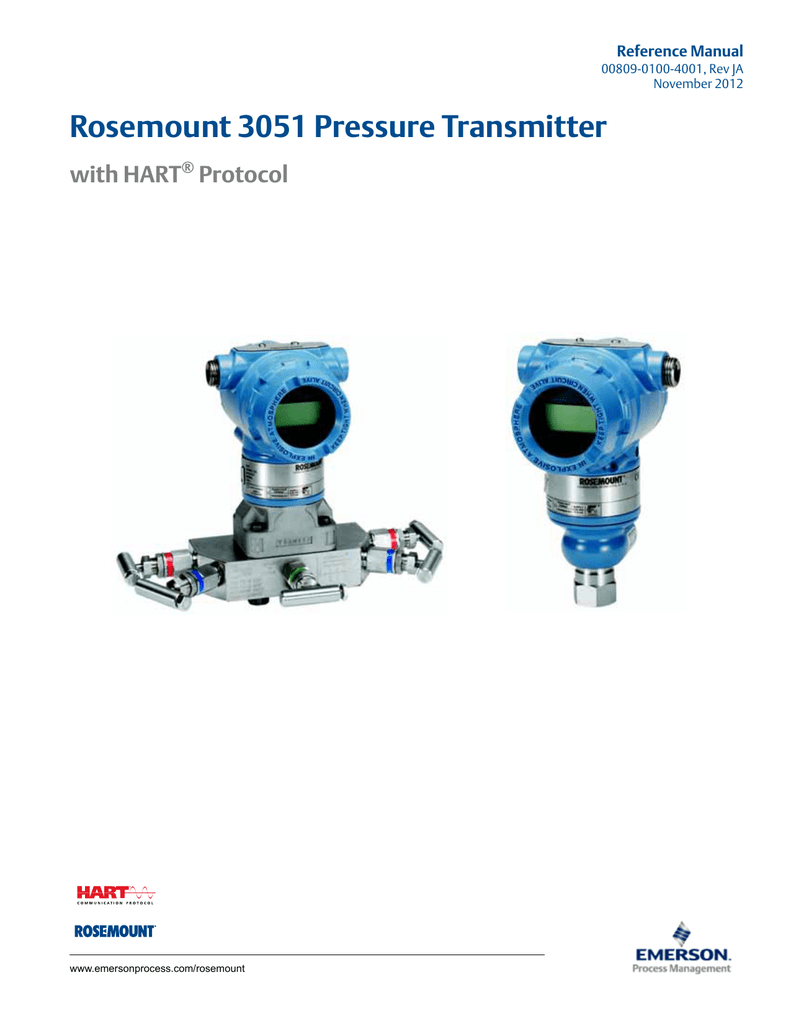 Manual  Rosemount 3051 Pressure Transmitter With Hart