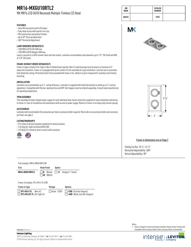 sc 1 st  studylib.net & MR16-MXGU10RTL2 - Intense Lighting azcodes.com