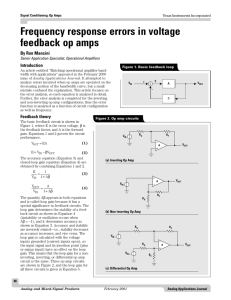 Frequency response errors in voltage feedback op amps