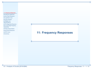 11: Frequency Responses