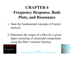 CHAPTER 6 Frequency Response, Bode Plots, and