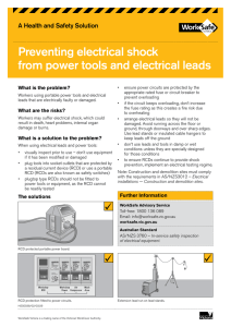 Preventing electrical shock from power tools and