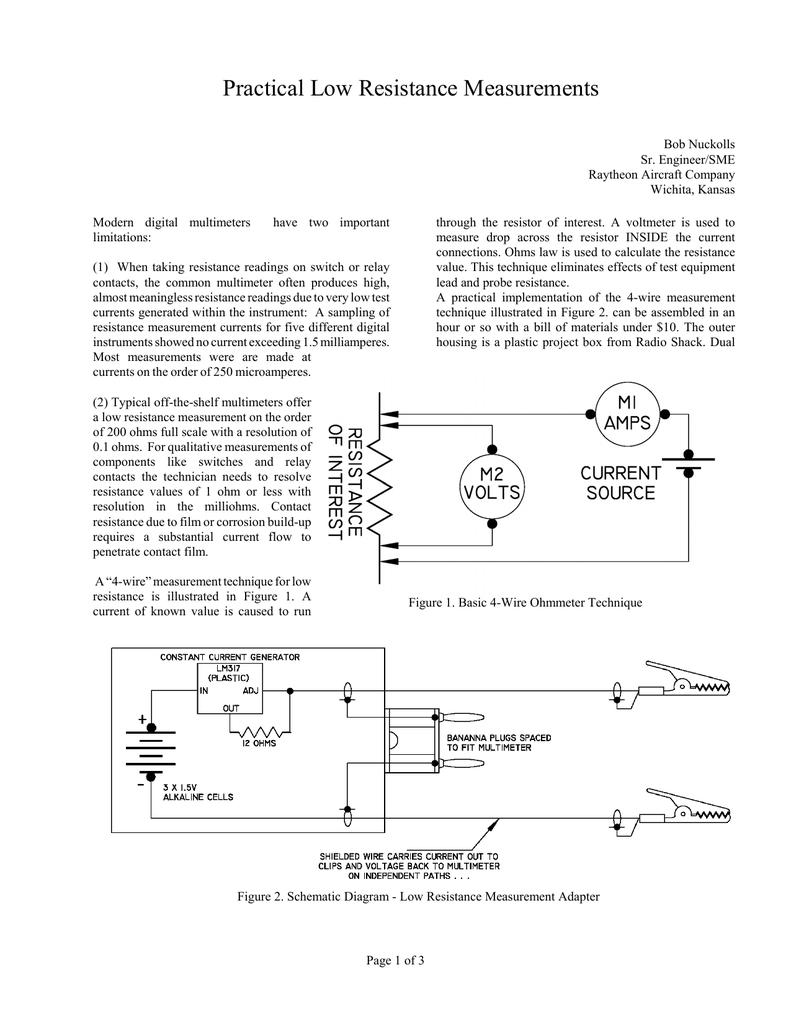 Practical Low Resistance Measurements Constantcurrent Generator 018041468 1 D0f01d78f020b9befd2bce49ace1be72