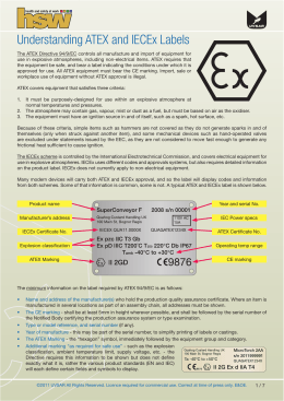 Understanding ATEX and IECEx Labels