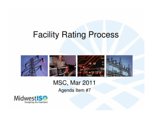 Facility Rating Process