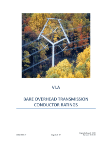 vi.a bare overhead transmission conductor ratings