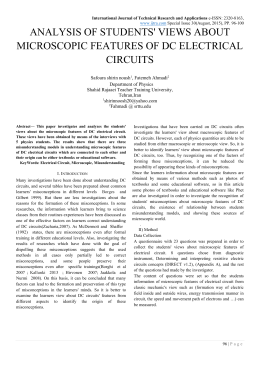 analysis of students` views about microscopic features of