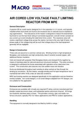 Fault Limiting Reactors