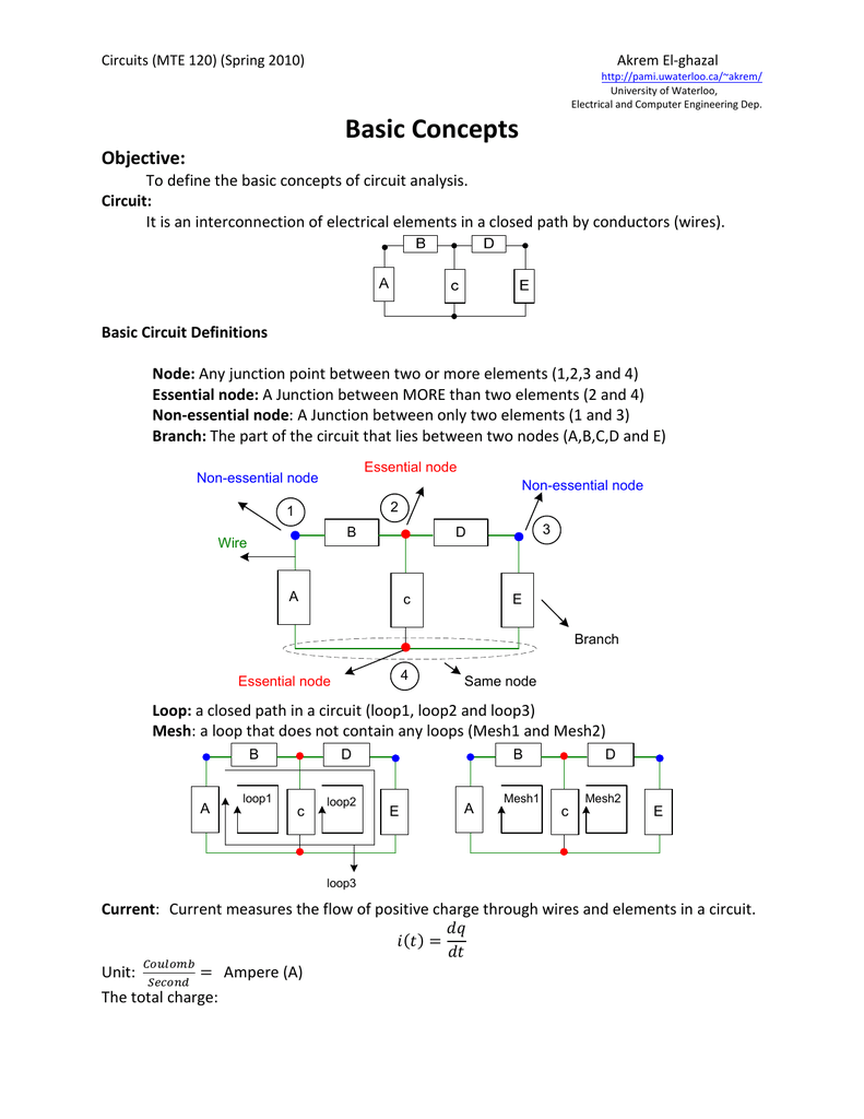 Basic Concepts University Of Waterloo Negative Voltage Reference Circuit 2 Basiccircuit Diagram