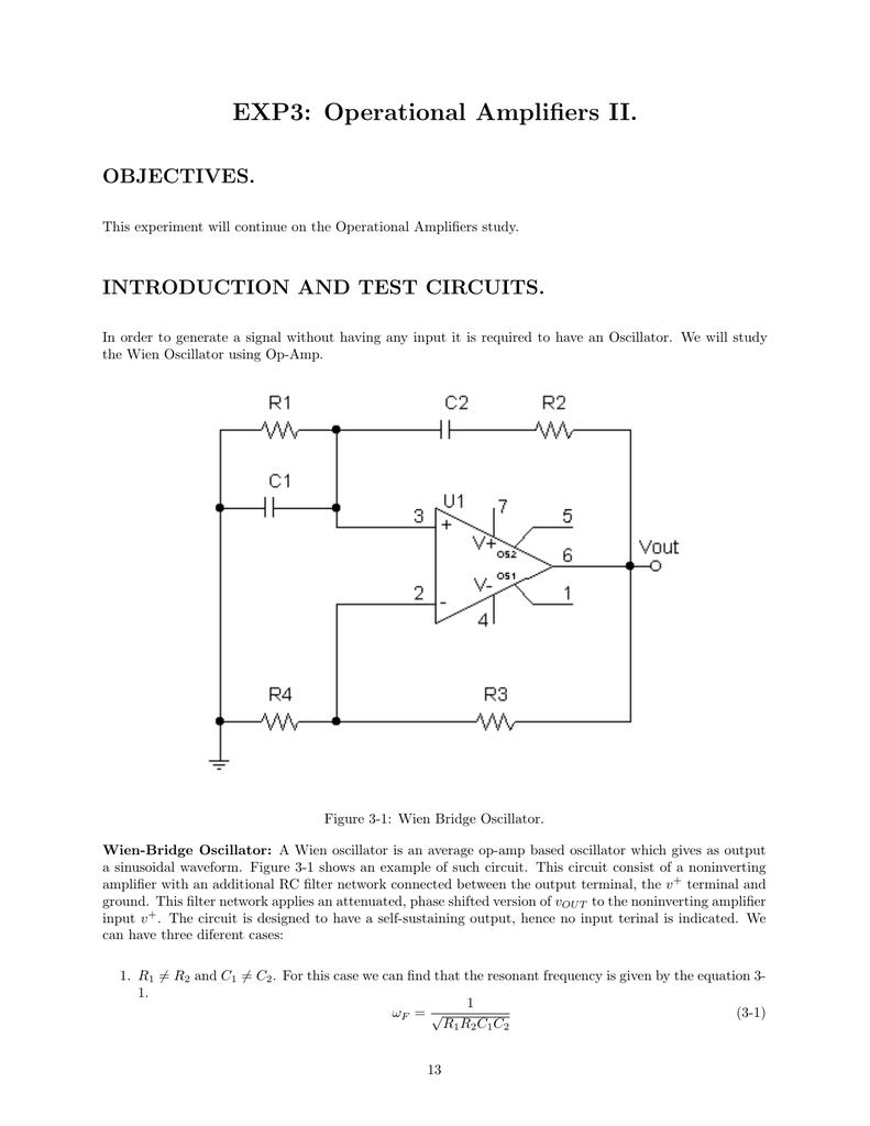 Exp3 Operational Amplifiers Ii Triangular Waveform Using Schmitt Trigger