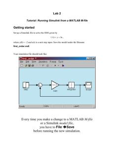 Tutorial: Running Simulink from a MATLAB M-file - Rose