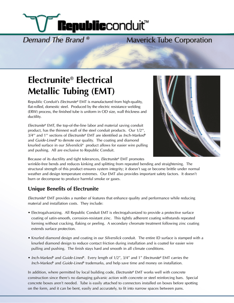 Electrunite Electrical Metallic Tubing Emt Conduit For Safe Wiring Explained By An