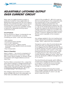 App note: ADJUSTABLE LATCHING OUTPUT