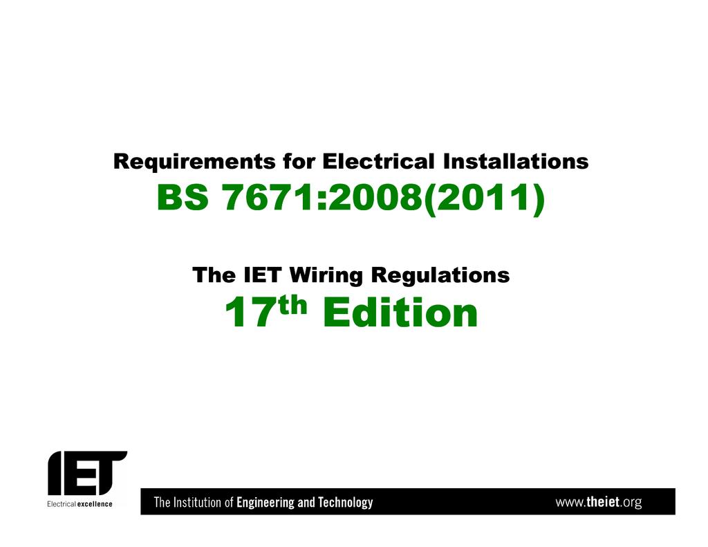 Bs 7671 Iet Wiring Regulations Book