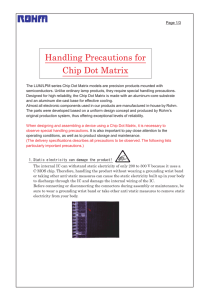 Handling Precautions for Chip Dot Matrix : LED Displays