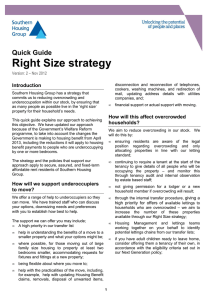 Right Size strategy - Southern Housing Group