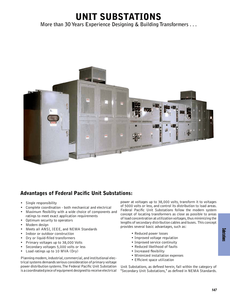 UNIT SUBSTATIONS - Federal Pacific