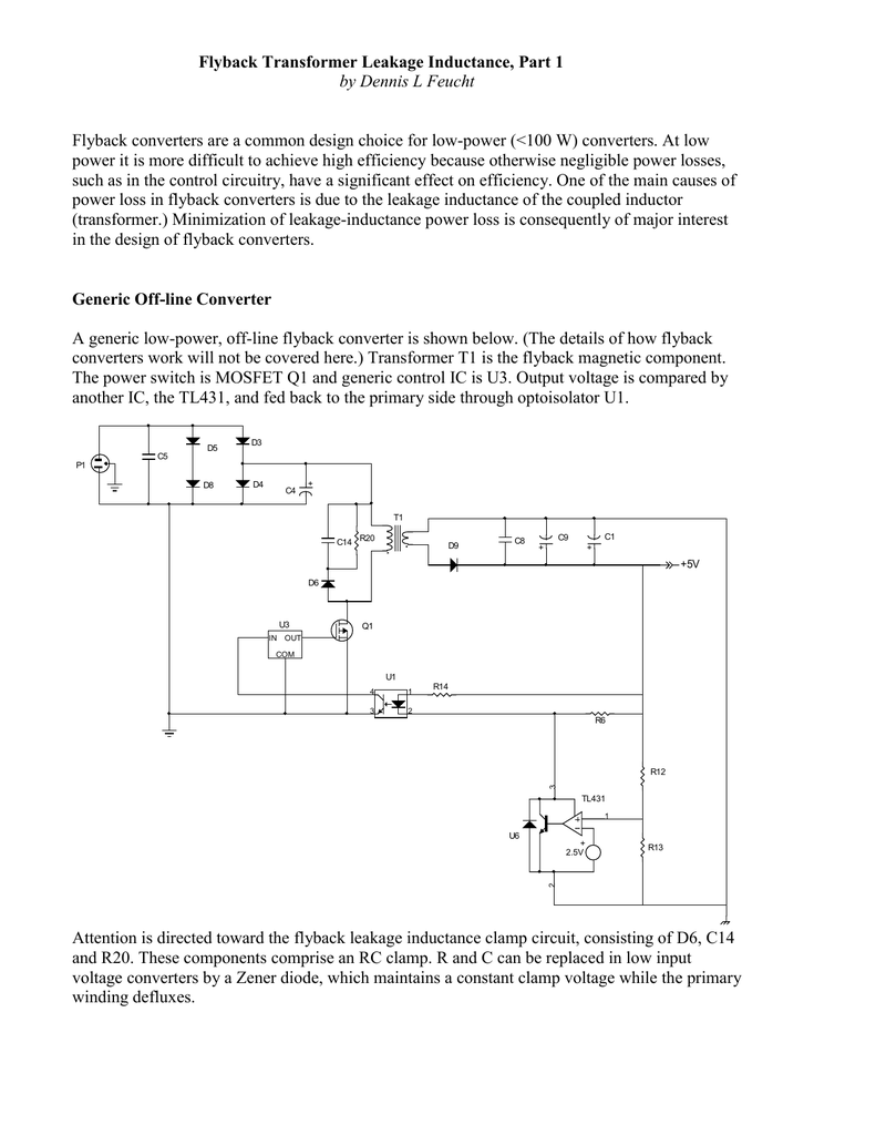 Flyback Transformer Leakage Inductance, Part 1